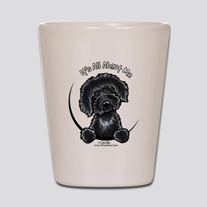 Black Labradoodle IAAM Shot Glass