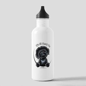 Black Labradoodle IAAM Stainless Water Bottle 1.0L