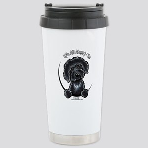 Black Labradoodle IAAM Stainless Steel Travel Mug