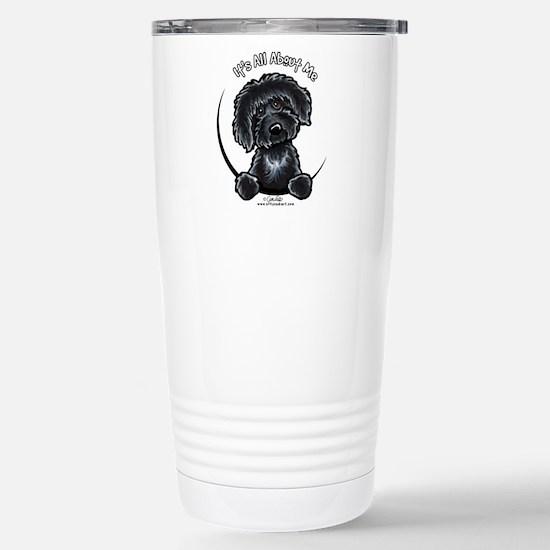 Black Labradoodle IAAM Stainless Steel Travel Mug
