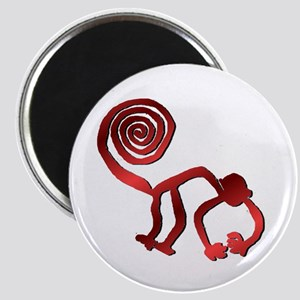 Nazca Monkey in Fire Red Magnet