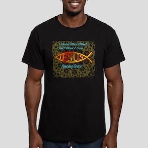 Amazing Grace Men's Fitted T-Shirt (dark)