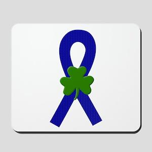 Blue Shamrock Ribbon Mousepad