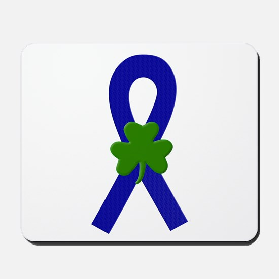 Blue Shamrock Ribbon Mousepad
