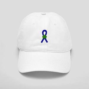 Blue Shamrock Ribbon Cap