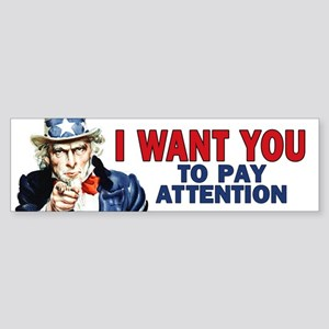 Uncle Sam: Classroom Sticker (Bumper)