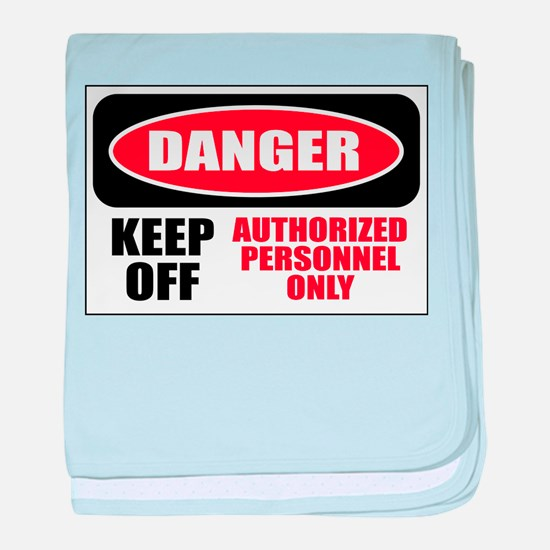 Danger Authorized baby blanket