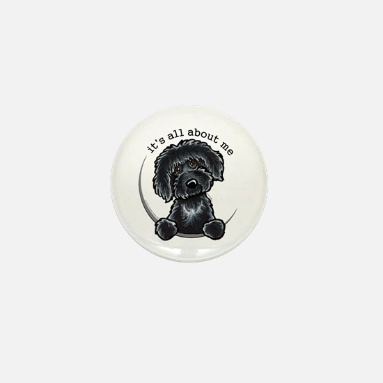 Black Labradoodle IAAM Mini Button