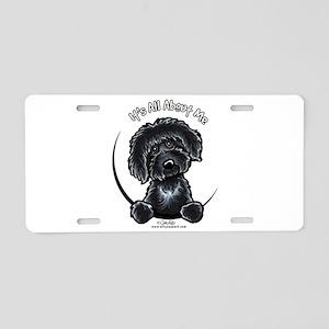 Black Labradoodle IAAM Aluminum License Plate