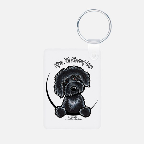 Black Labradoodle IAAM Keychains