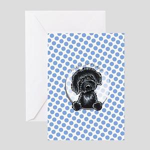 Black Labradoodle Birthday Greeting Card
