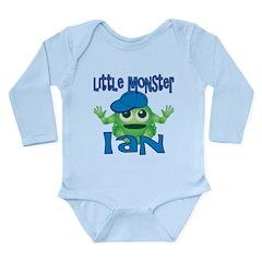 Little Monster Ian Long Sleeve Infant Bodysuit