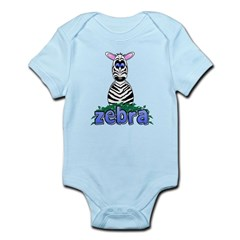 Cartoon Zebra Infant Bodysuit