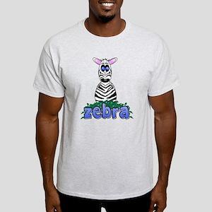 Cartoon Zebra Light T-Shirt