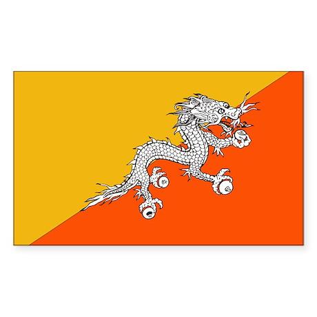 Flag of Bhutan Rectangle Sticker