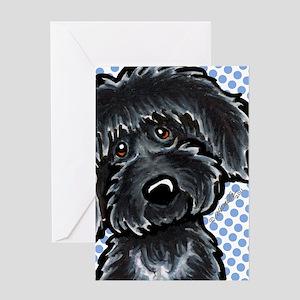 Black Labradoodle Funny Greeting Card