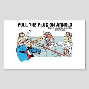 Pull the Plug on Arnold Rectangle Sticker