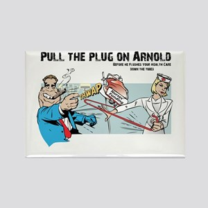 Pull the Plug on Arnold Rectangle Magnet