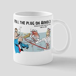 Pull the Plug on Arnold Mug