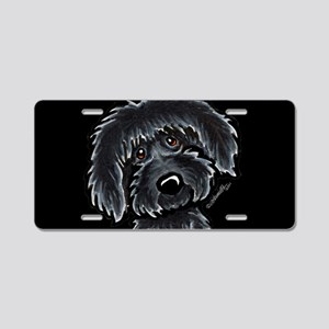 Black Labradoodle Funny Aluminum License Plate