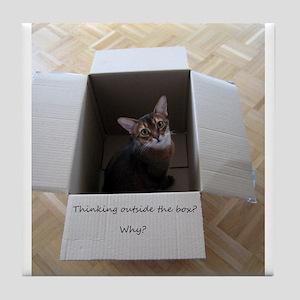 Thinking Outside the Box Tile Coaster