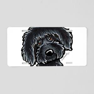 Black Labradoodle Funny Aluminum License Plate