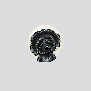 Black Labradoodle Funny Mini Button