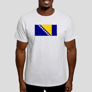 Bosnia & Herzegovina Flag Ash Grey T-Shirt