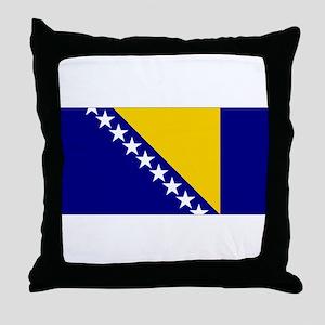 Bosnia & Herzegovina Flag Throw Pillow