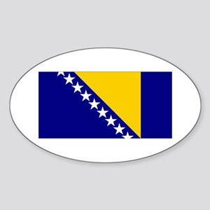 Bosnia & Herzegovina Flag Oval Sticker