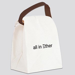 Ether ETH Crypto Currrency Blockc Canvas Lunch Bag