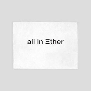Ether ETH Crypto Currrency Blockcha 5'x7'Area Rug