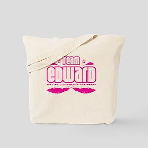 Team Edward (feathers) Tote Bag