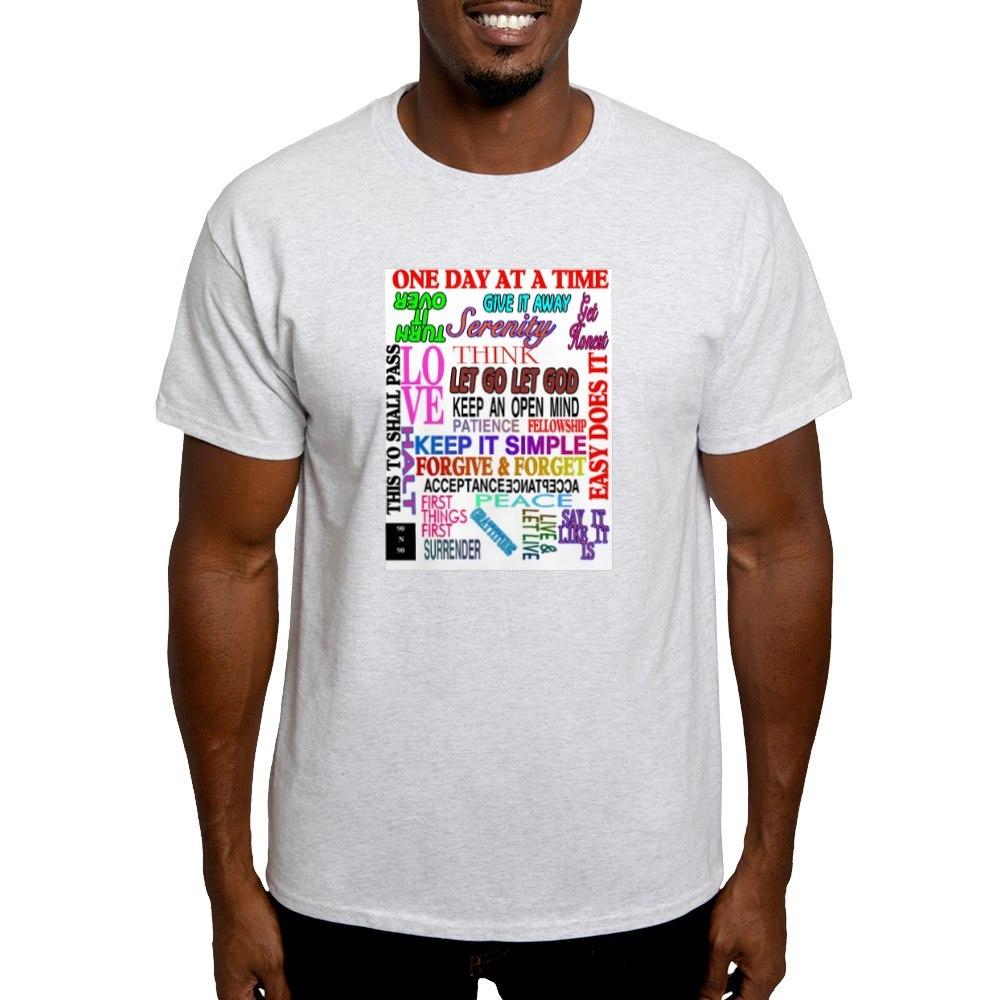 CafePress-12-STEP-SLOGANS-IN-COLOR-Light-T-Shirt-100-Cotton-T-Shirt-560692584 thumbnail 12