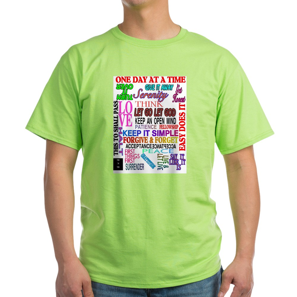 CafePress-12-STEP-SLOGANS-IN-COLOR-Light-T-Shirt-100-Cotton-T-Shirt-560692584 thumbnail 23
