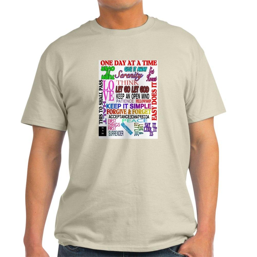 CafePress-12-STEP-SLOGANS-IN-COLOR-Light-T-Shirt-100-Cotton-T-Shirt-560692584 thumbnail 45