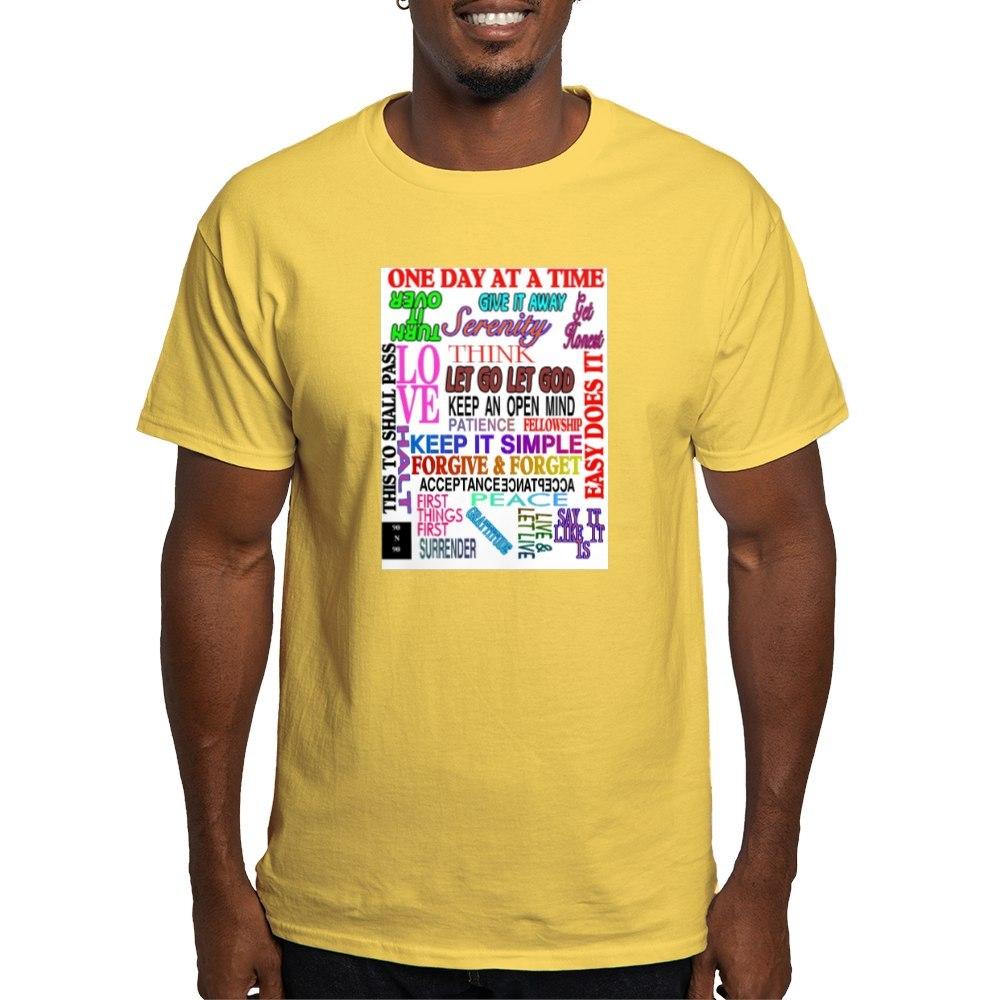 CafePress-12-STEP-SLOGANS-IN-COLOR-Light-T-Shirt-100-Cotton-T-Shirt-560692584 thumbnail 57