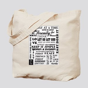 12 STEP SLOGANS Tote Bag