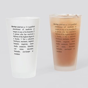 Doctor Definition Drinking Glass