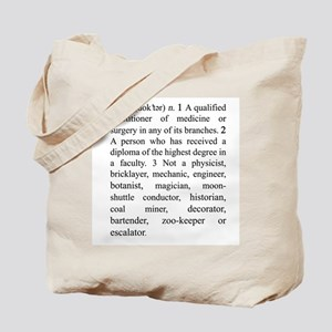 Doctor Definition Tote Bag