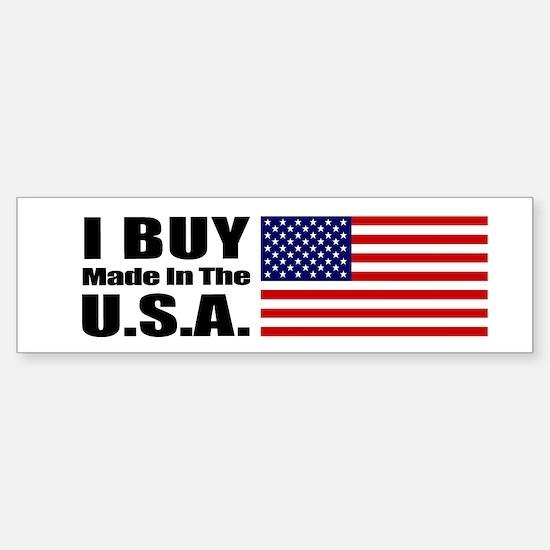 I Buy Made in the USA - Bumper Car Car Sticker