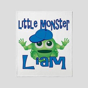 Little Monster Liam Throw Blanket