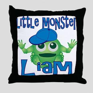 Little Monster Liam Throw Pillow
