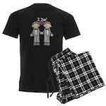 Gay Wedding Grooms Men's Dark Pajamas
