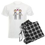 Gay Wedding Grooms Men's Light Pajamas