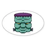 Frankenstein's Monster Sticker (Oval 10 pk)
