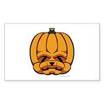 Jack-O'-Lantern Sticker (Rectangle 50 pk)