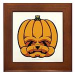 Jack-O'-Lantern Framed Tile