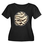 The Mummy Women's Plus Size Scoop Neck Dark T-Shir