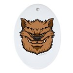 The Werewolf (Brown) Ornament (Oval)